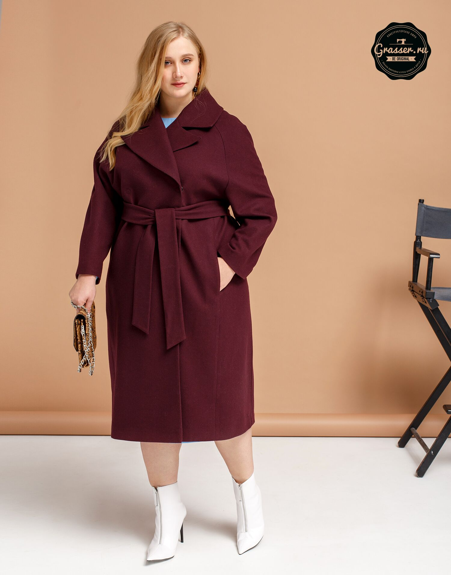 Coat, plus size, pattern №662
