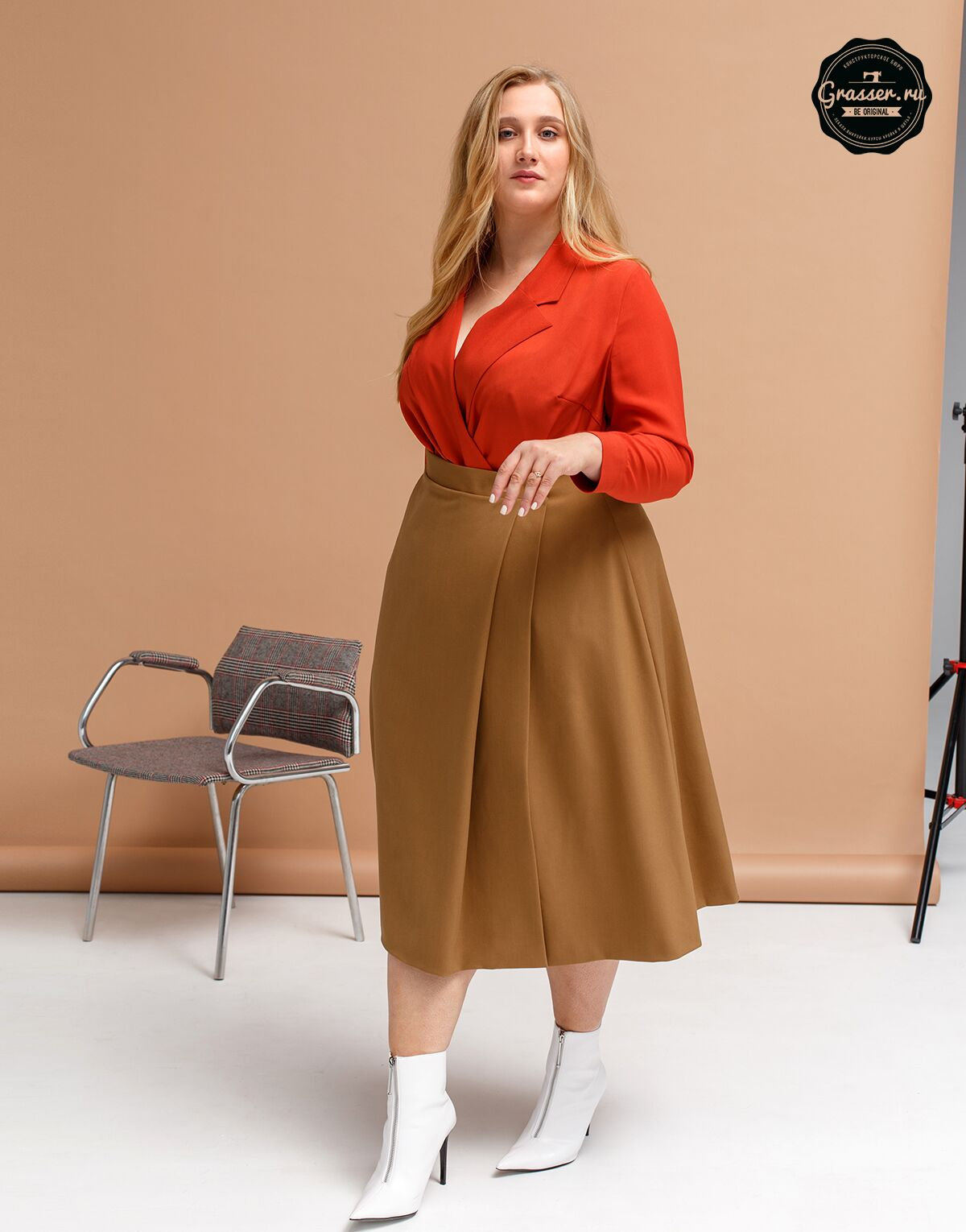 Skirt, plus size, pattern №640