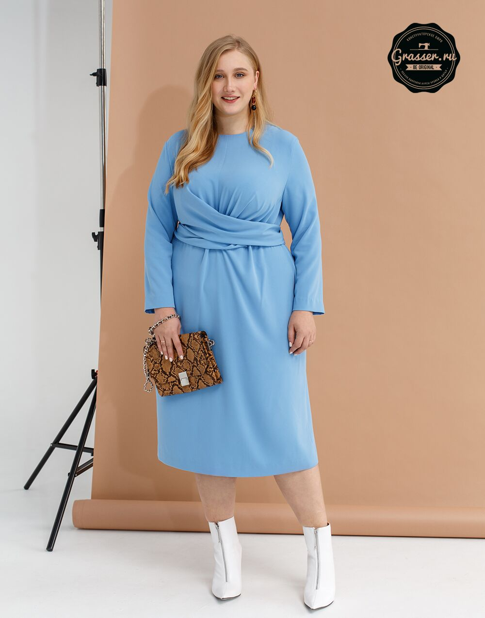 Dress, plus size, pattern №650