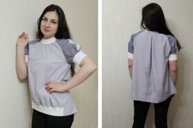 Sewing pattern №476 blouse with Olga Tugolukova